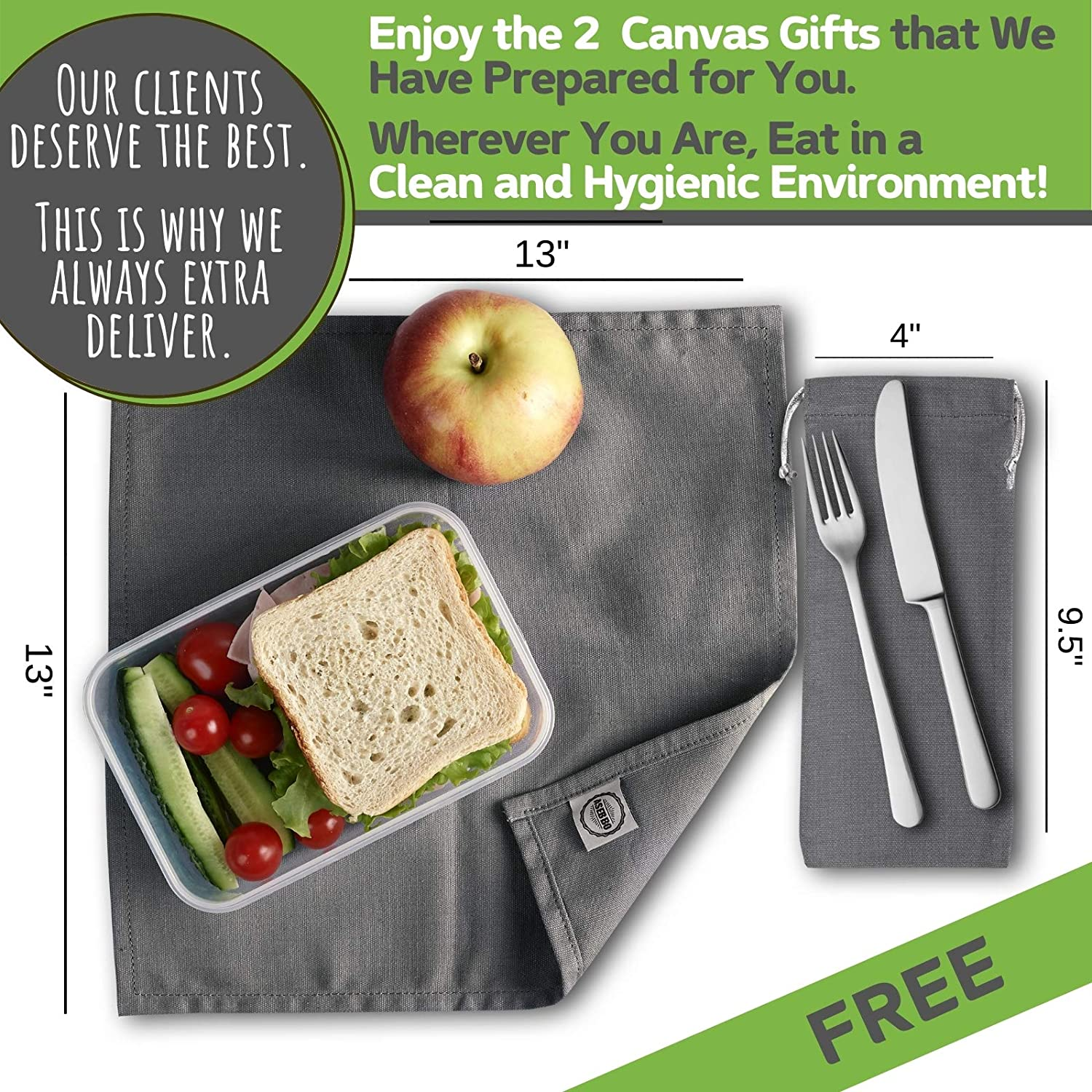 Waxed Canvas Lunch Bags Brown Paper Bag Reusable Lunch Box Large Plastic-Free Washable Lunch Sack for Men Lifetime Buy Women /& Kids by ASEBBO