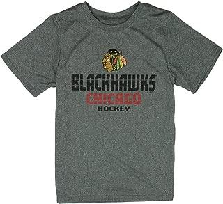 Chicago Blackhawks NHL Little Boys and Big Boys Short Sleeve T-Shirt - Grey