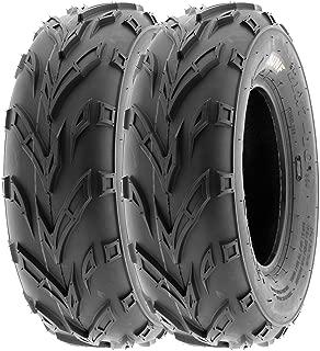 SunF 145/70-6 145/70x6 ATV UTV A/T Kart Trail Replacement 6 PR Tubeless Tires A004, [Set of 2]