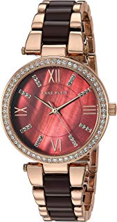 Anne Klein Women's AK Swarovski Crystal Accented Resin Bracelet Watch