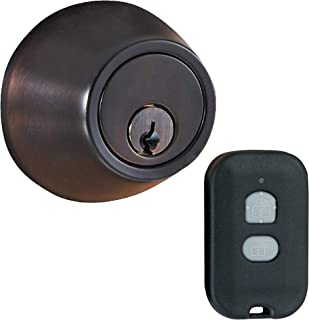 MiLocks WF-02OB Digital Deadbolt Door Lock with Keyless Entry via Remote Control for Exterior Doors, Oil Rubbed Bronze