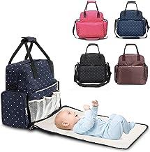 Mochila Bebé para Pañales y Biberones, Bolso maternidad multifuncional, Cambiador bebe portátil, Mochila impermeable mama Babylux, Bolso carrito bebé. (Azul)