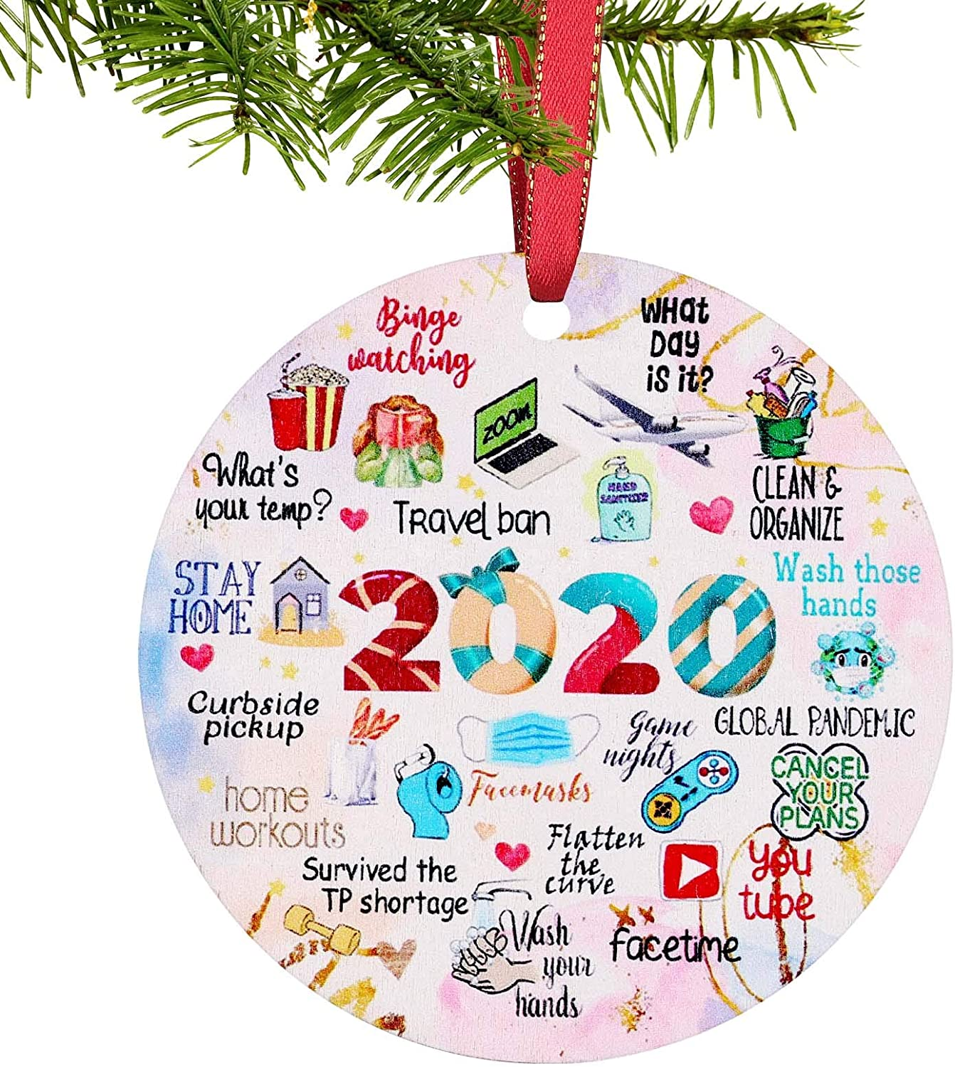 Xipixiao Christmas Ornament 2020 Decorations Forget Year to A Cash special price Ch Spring new work one after another