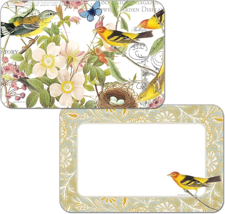tienda en linea Botanical Botanical Botanical pájaros Reversible vinilo manteles individuales juego de cuatro  Envío 100% gratuito