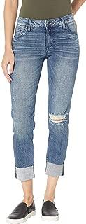 Women's Catherine Boyfriend Wide Cuff Jeans w/Raw Hem in Suffused w/Medium Base Wash