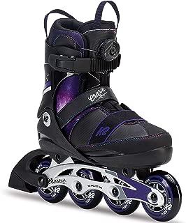 K2 Skate Charm Boa Alu Inline Skates, Black Purple, Size 1-5