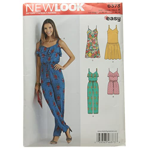 ebdf72077ea New Look 6373 Misses  Jumpsuit or Romper and Dresses Sewing Kit