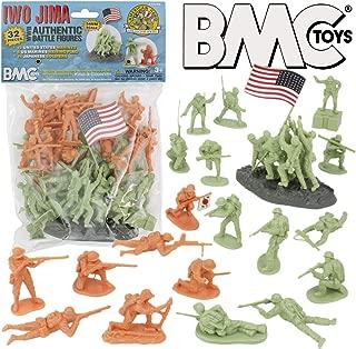 BMC WW2 Iwo Jima Plastic Army Men - 32 American and Japanese Soldier Figures