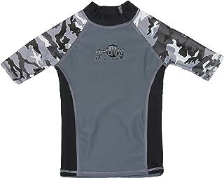 2b419ee1 grUVywear Boys Rashguard Girls Swim Shirt UPF 50+ Kids Sun Protective  Swimwear