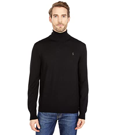 Polo Ralph Lauren Washable Merino Turtleneck Sweater (Polo Black) Men