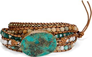 New! Dazzling Handmade Leather Wrap Bracelet Collection