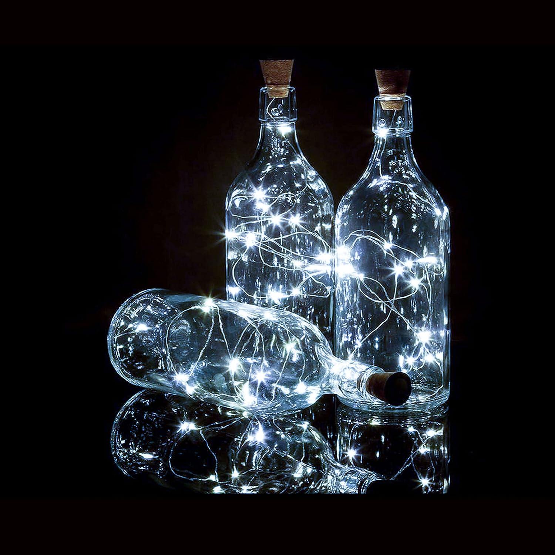 store Bottle Lights 12 Pack 20 LEDs Bottles Cork security Wine for Batte