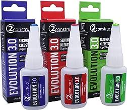2Construct Evolution 3.0 secondelijm, 20 g, extreem sterk, waterdicht, UV-bestendig, hittebestendig, bliksemsnel