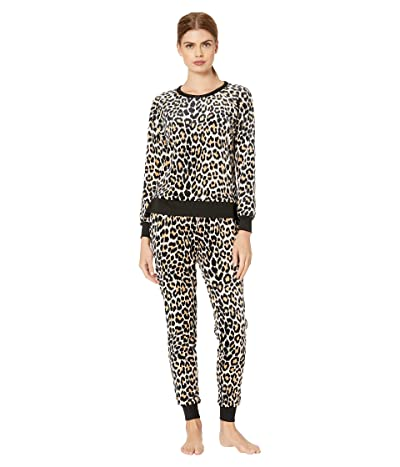 Kate Spade New York Stretch Velour Jogger Pajama Set (Cheetah) Women