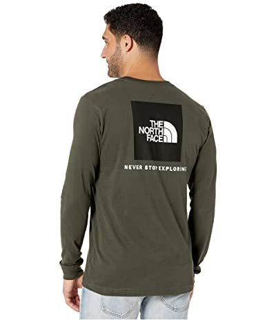 The North Face Long Sleeve Red Box T-Shirt (New Taupe Green) Men