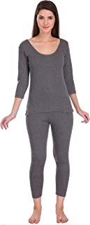Selfcare Women Cotton Blend Thermal Top and Pyjama Set (Pack of 1 Set)