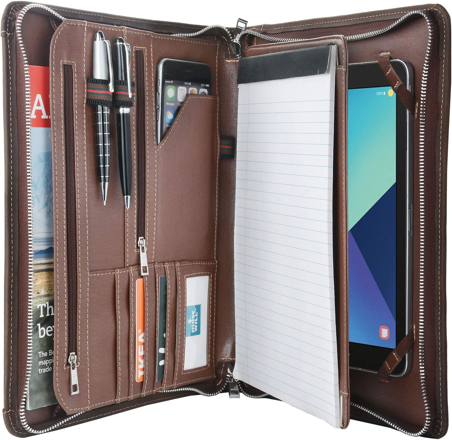 Vintage Crazy-Horse Max 71% OFF Leather Portfolio for Tab Galaxy S5e S4 Large discharge sale