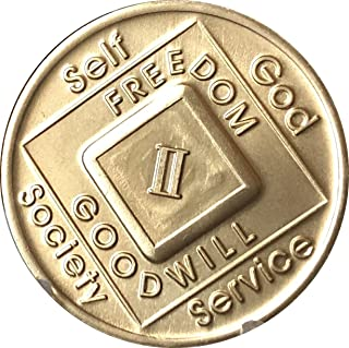 2 Year NA Medallion Official Narcotics Anonymous Chip II