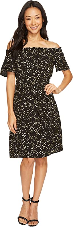 MICHAEL Michael Kors - Shooting Star Off Shoulder Dress