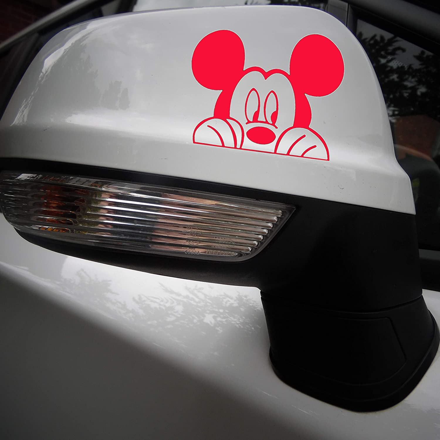 Mouse Peering Mickey inspired Novelty Light Switch Sticker Wall Decal