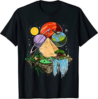 Egyptian Pyramids Aliens Space Ancient UFO Conspiracy Theory T-Shirt