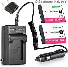 Kastar Battery 2 Pack and Travel Charger Kit for Sony NP-FT1 NPFT1 and Sony DSC-L1, DSC-M1, DSC-M2, DSC-T1, DSC-T3, DSC-T5, DSC-T9 DSC-T10, DSC-T11, DSC-T33 Digital Camera