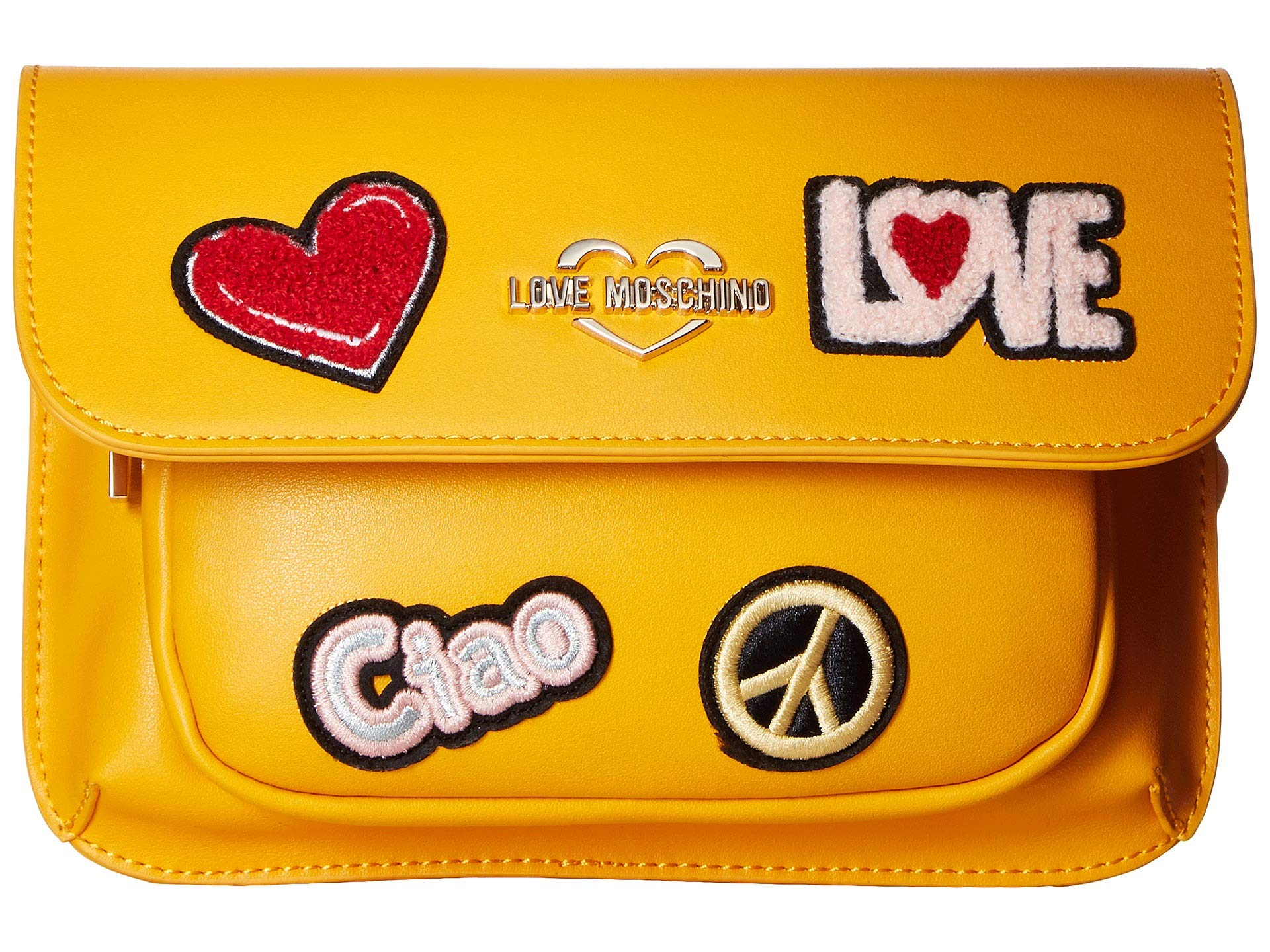 Love Bag Yellow Fanny Moschino Patch FZ6pFr