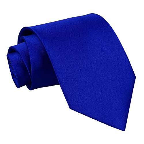 d5a15dfec7c8 DQT Plain Glossy Satin Polyester Wedding Classic Neck Tie for Men in  Various Colours