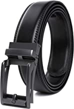 CONTACTS Men's Genuine Leather Auto Buckle Belt