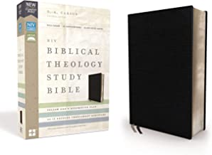 NIV, Biblical Theology Study Bible, Bonded Leather, Black, Thumb Indexed, Comfort Print: Follow God's Redemptive Plan as It Unfolds throughout Scripture