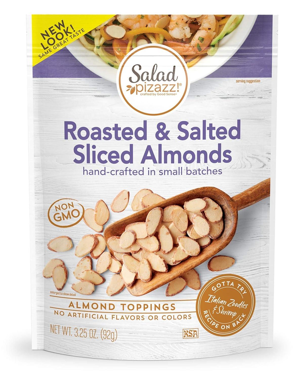 Salad Pizazz Sliced Almonds Oven Salt Non-GMO Ranking TOP20 Sala Roasted Las Vegas Mall Sea