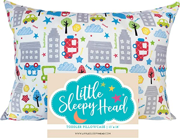 Little Sleepy Head Toddler Pillowcase Cars 13X18 英寸