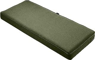 Classic Accessories Montlake Bench Cushion Foam & Slip Cover, Heather Fern, 48x18x3