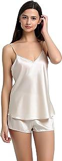 Jasmine Seda de Seda Pura Chemise Camisola Chaleco de la Tapa Desnudo