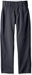 Alleson Ahtletic Boys Youth Baseball Pants with Braid, Charcoal/Navy, Small