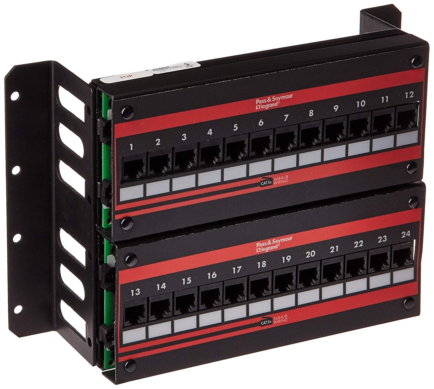 ON-Q Data Patch Panel - Wall Mount 24-Port Cat 5E Wall Mount Patch Panel (JP24845C5E)
