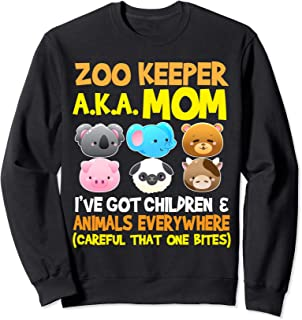 Zoo Keeper AKA MOM Animals Gifts for Mothers Mama Sweatshirt