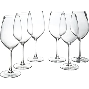 Amazon Brand – Stone & Beam Traditional Red Wine Glass, 22-Ounce, Set of 6