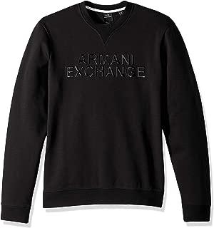 A|X Armani Exchange Men's Solid Colored Pullover Sweatshirt