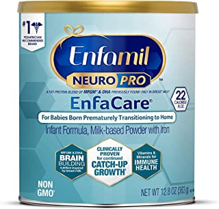 Enfamil NeuroPro EnfaCare Premature Baby Formula Milk Based w/Iron Powder Can, White, 12.8 Oz