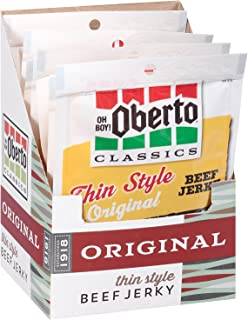 Oh Boy! Oberto Classics Original Thin Style Beef Jerky, 1.2 Ounce (Pack of 8)