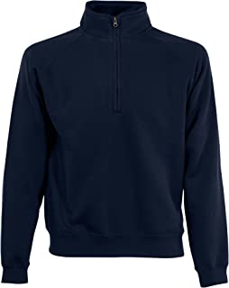 Fruit of the Loom Mens Zip Neck Sweatshirt Top