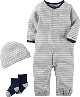 Carter's Baby Boys' 3 Piece Striped Bodysuit Set