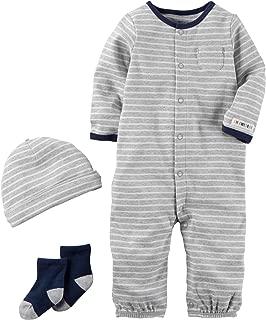 Carter's Baby Boys' 3 Piece Striped Bodysuit Set