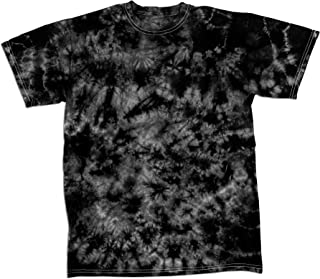 Faded Crystal Scattered Pattern Design Unisex Adult Tie Dye T-Shirt Tee