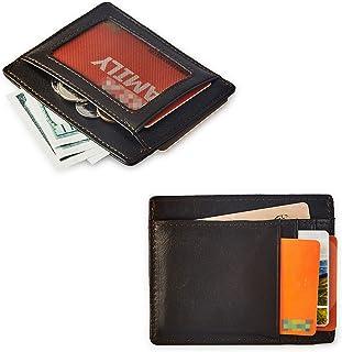 BRASS TACKS LEATHERCRAFT Portafoglio da uomo sottile in vera pelle stile vintage Mini portafoglio Porta carta (Marrone scuro)
