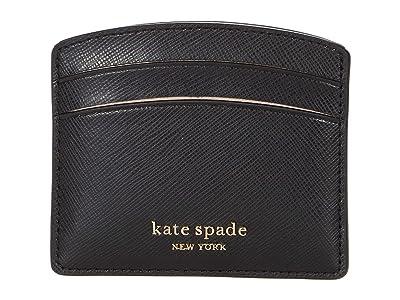 Kate Spade New York Spencer Card Holder (Black) Wallet Handbags