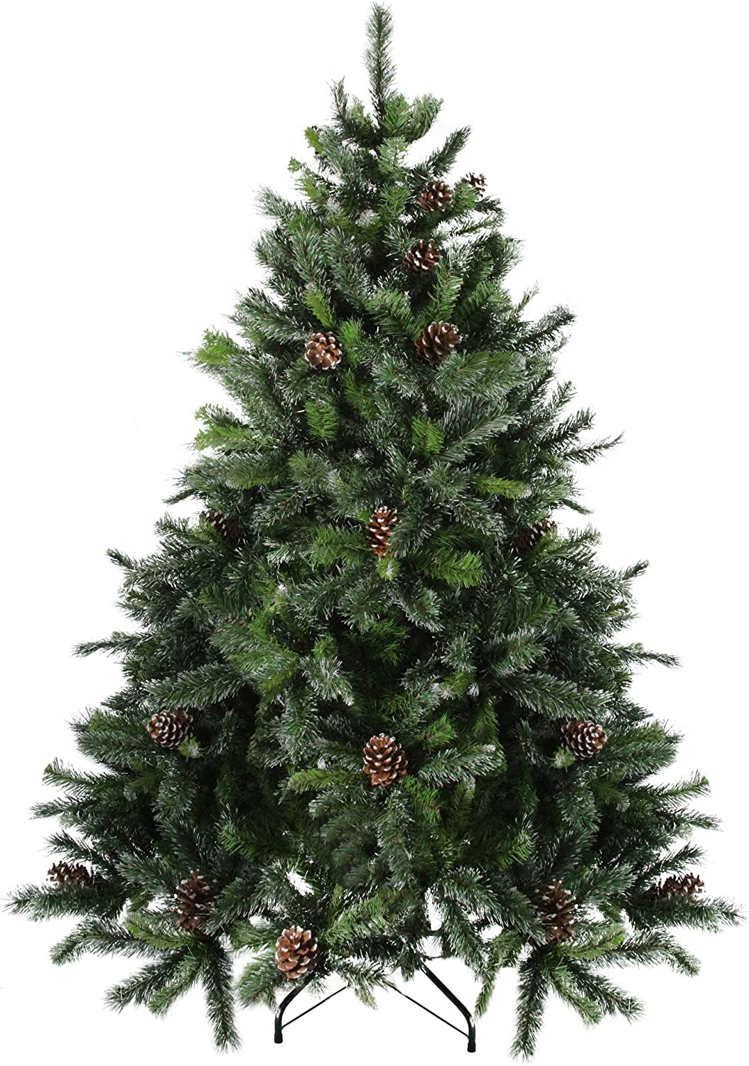 Northlight 7' Full Snowy Delta Artificial Pine Christ Year-end Oakland Mall annual account with Cones