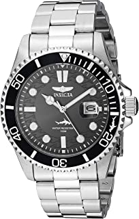 Invicta Men's Pro Diver 43mm Stainless Steel Quartz Watch, Silver (Model: 30018)