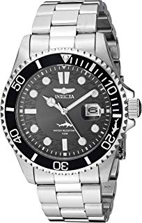 Invicta Men's Pro Diver Quartz Watch with Stainless Steel Strap, Silver, 22 (Model: 30018)
